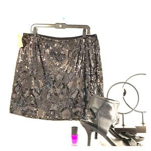 DK NYC Art Deco Sequined skirt